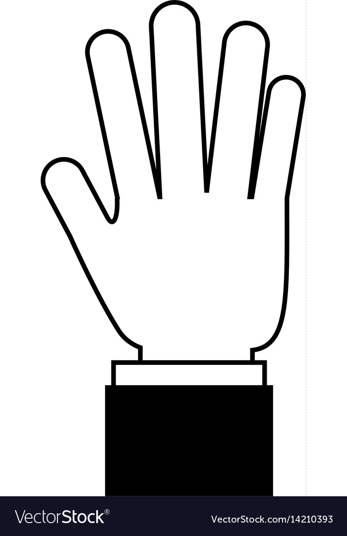 Hands human touching icon