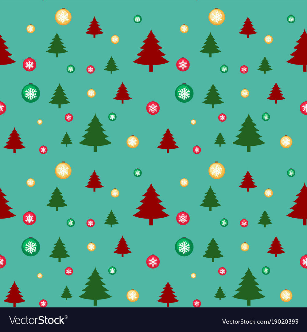 Christmas Tree Background.Seamless Background Template With Christmas Trees