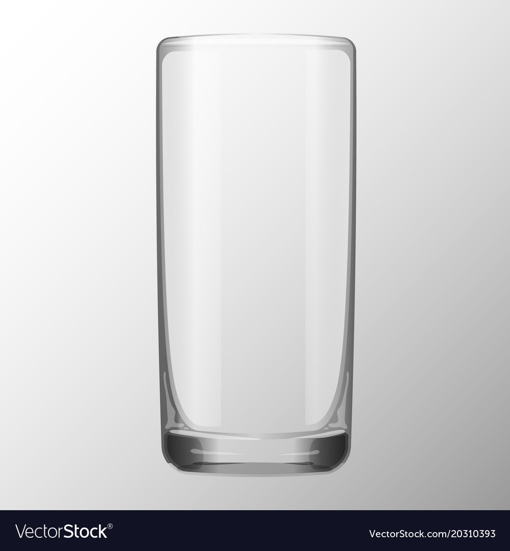 Transparent glass for water juice