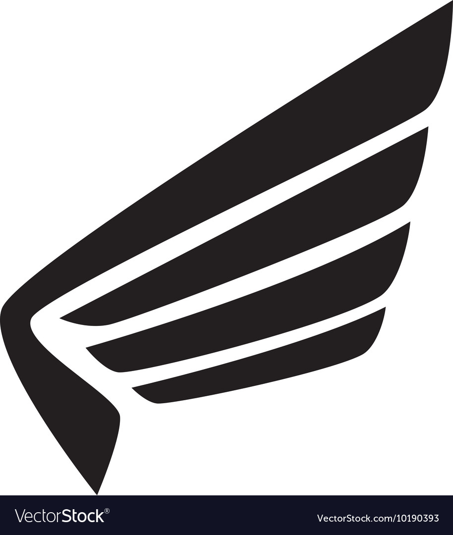 Wing modern strippes icon graphic