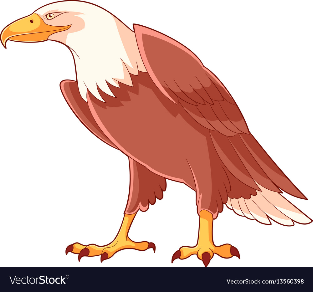 Cartoon smiling eagle