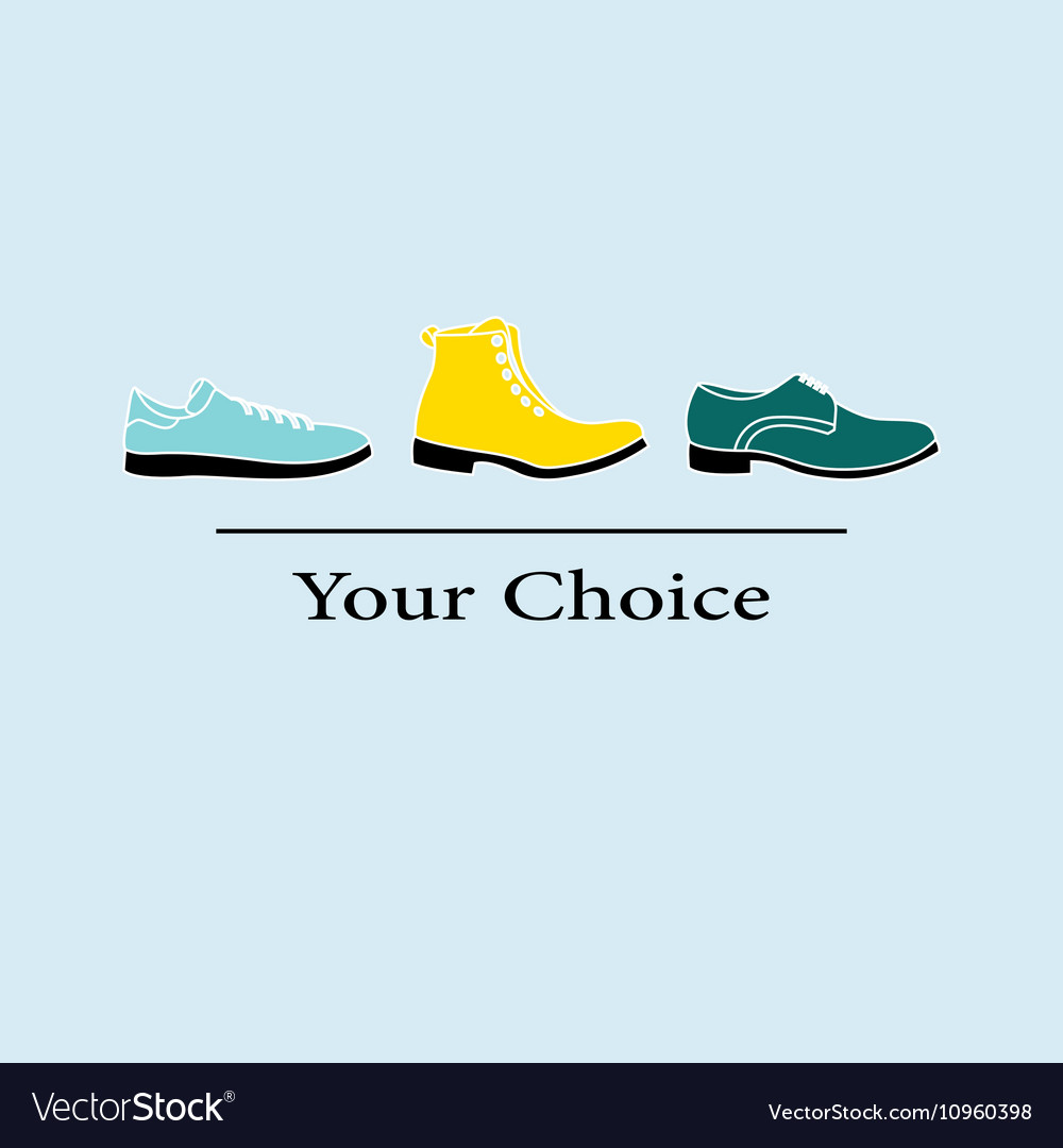 Men fashion shoes to choose vector image