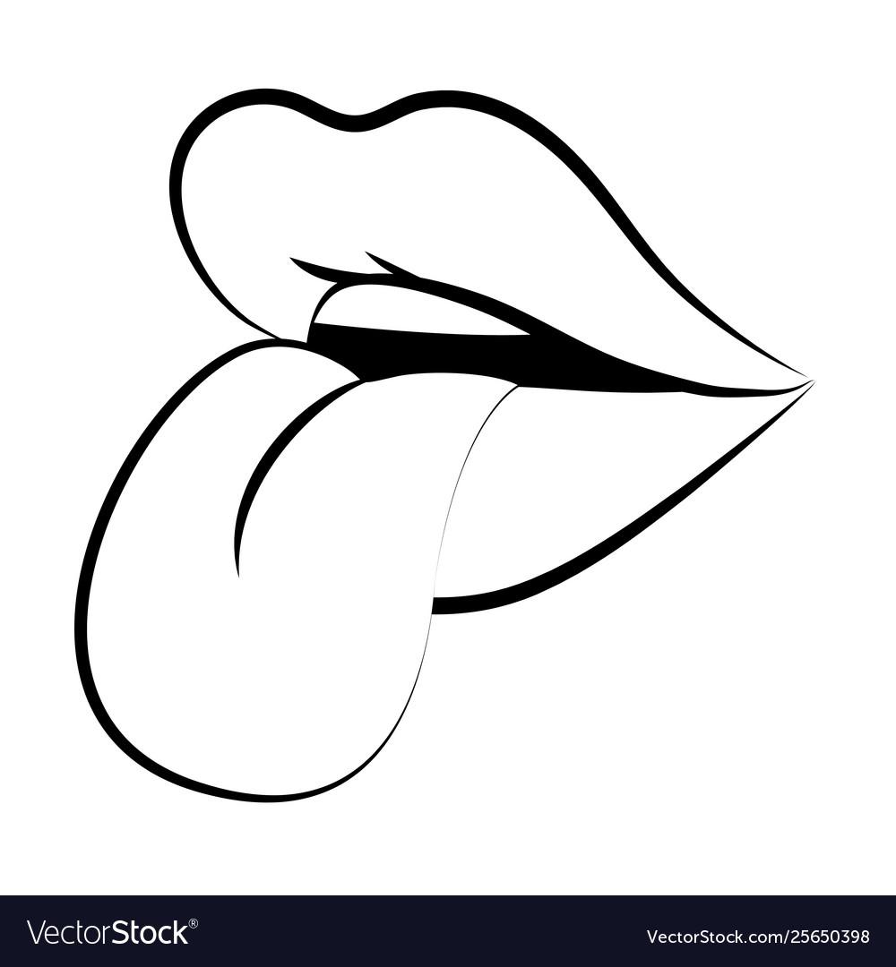 Pop Art Comic Lips Cartoon Royalty Free Vector Image