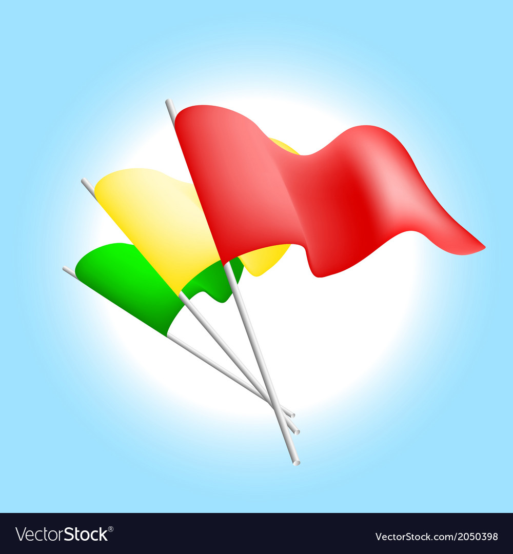 Set of color flags vector image