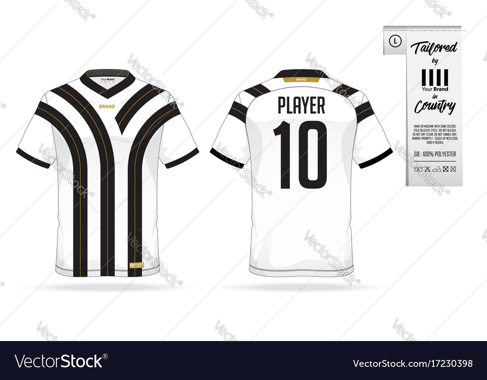 Soccer Jersey Template | Soccer Kit Or Football Jersey Template And Logo Vector Image