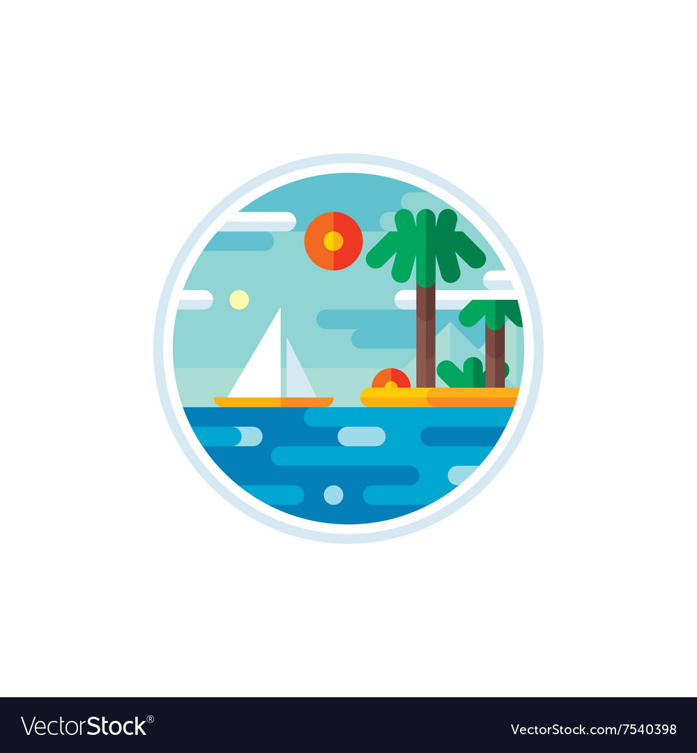Summer vacation logo creative