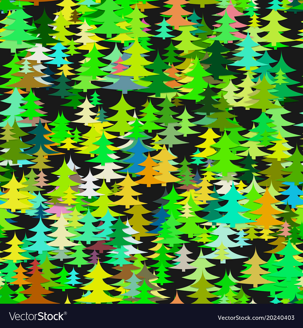 Abstract chaotic pine tree background - seasonal