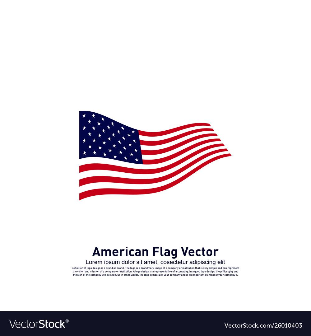 American flag design template icon symbol
