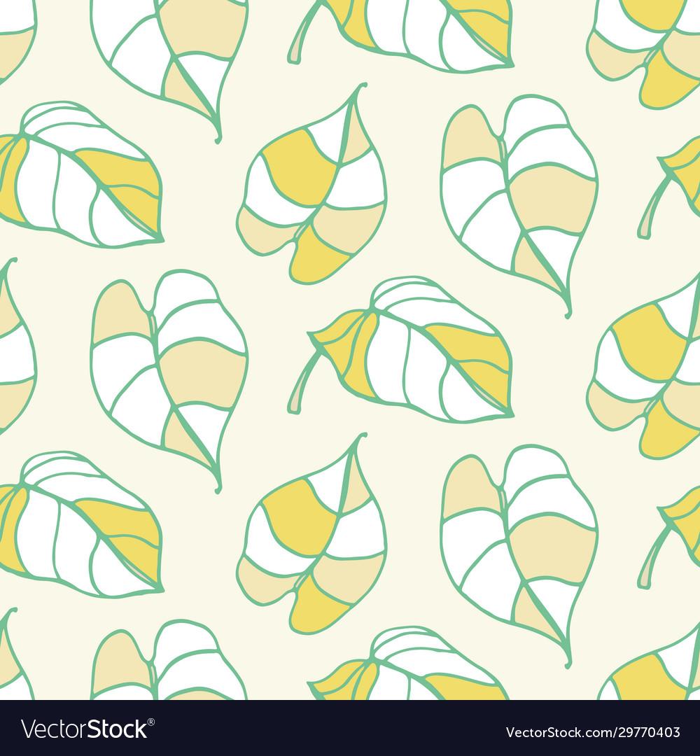 Beautiful tropical leaves seamless pattern