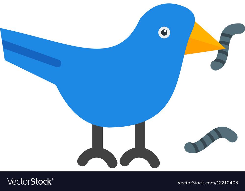 Bird Eating Worm vector image