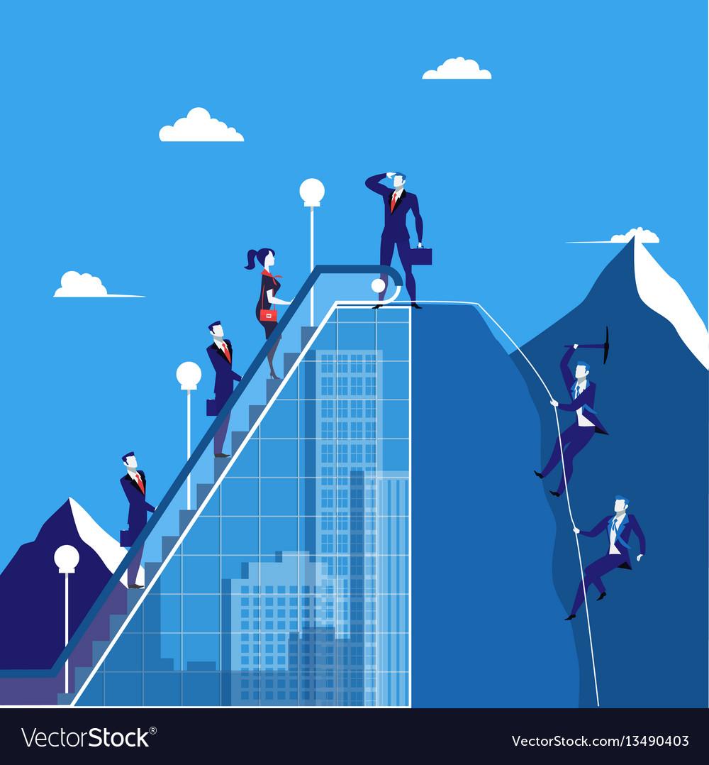 Business people climbing