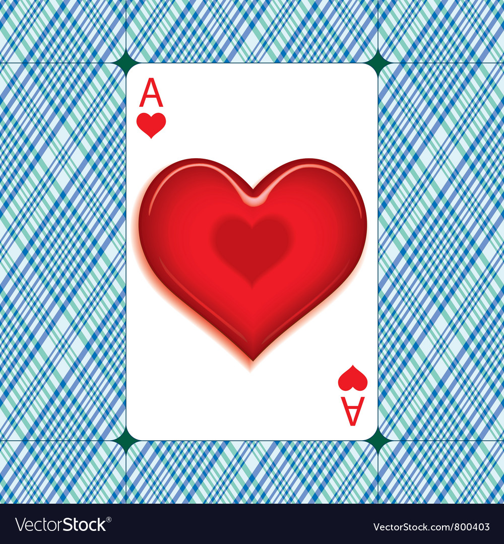 Heart on the ace vector image