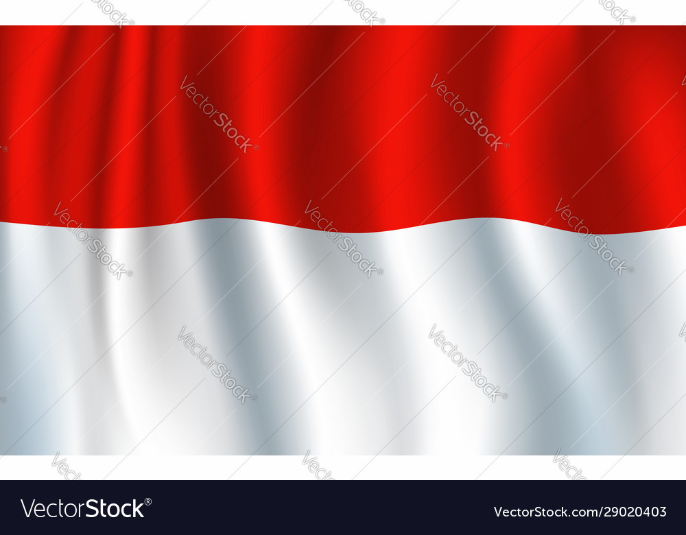 Indonesian national flag red and white