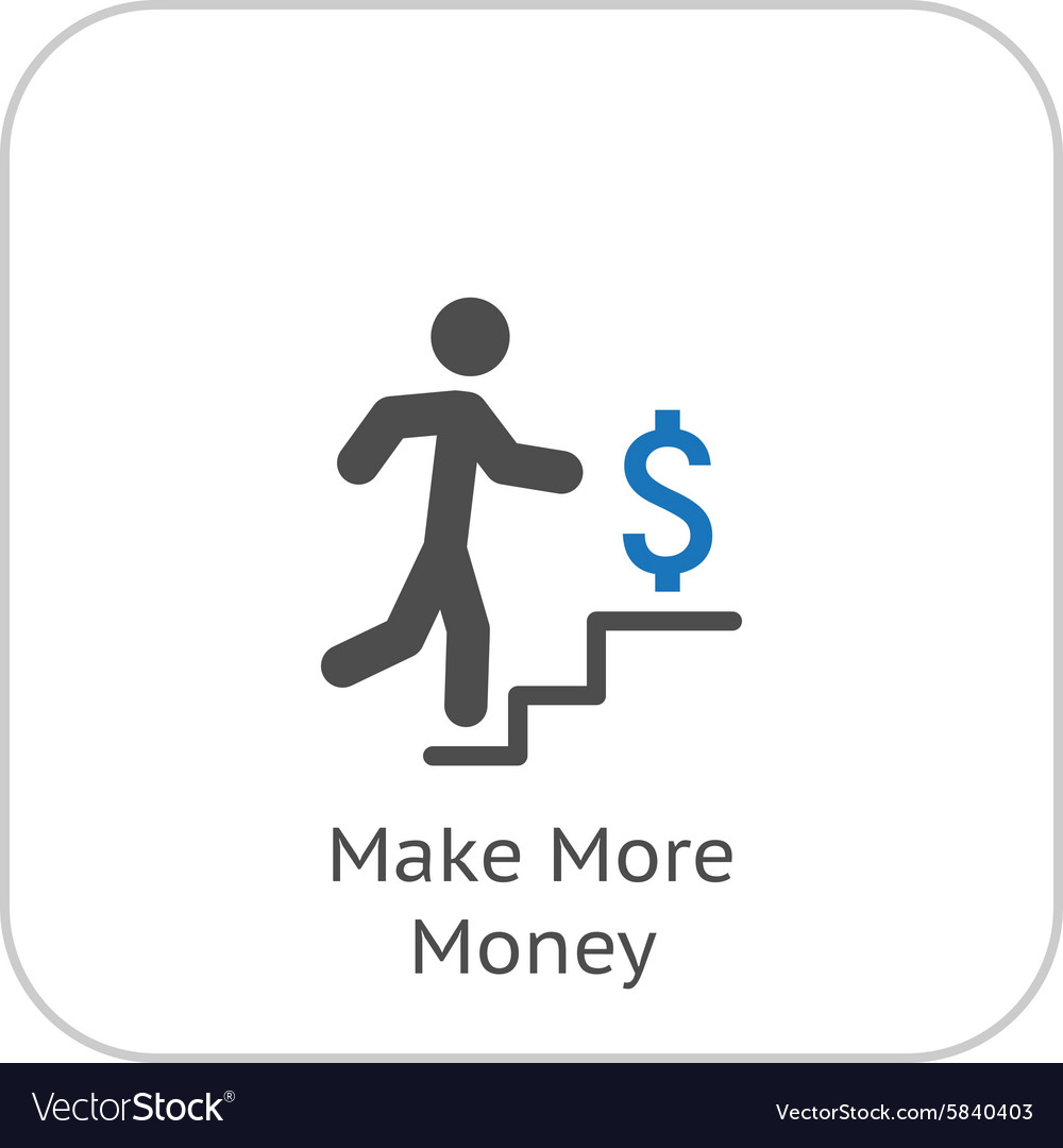 Make More Money Icon Business Concept Flat