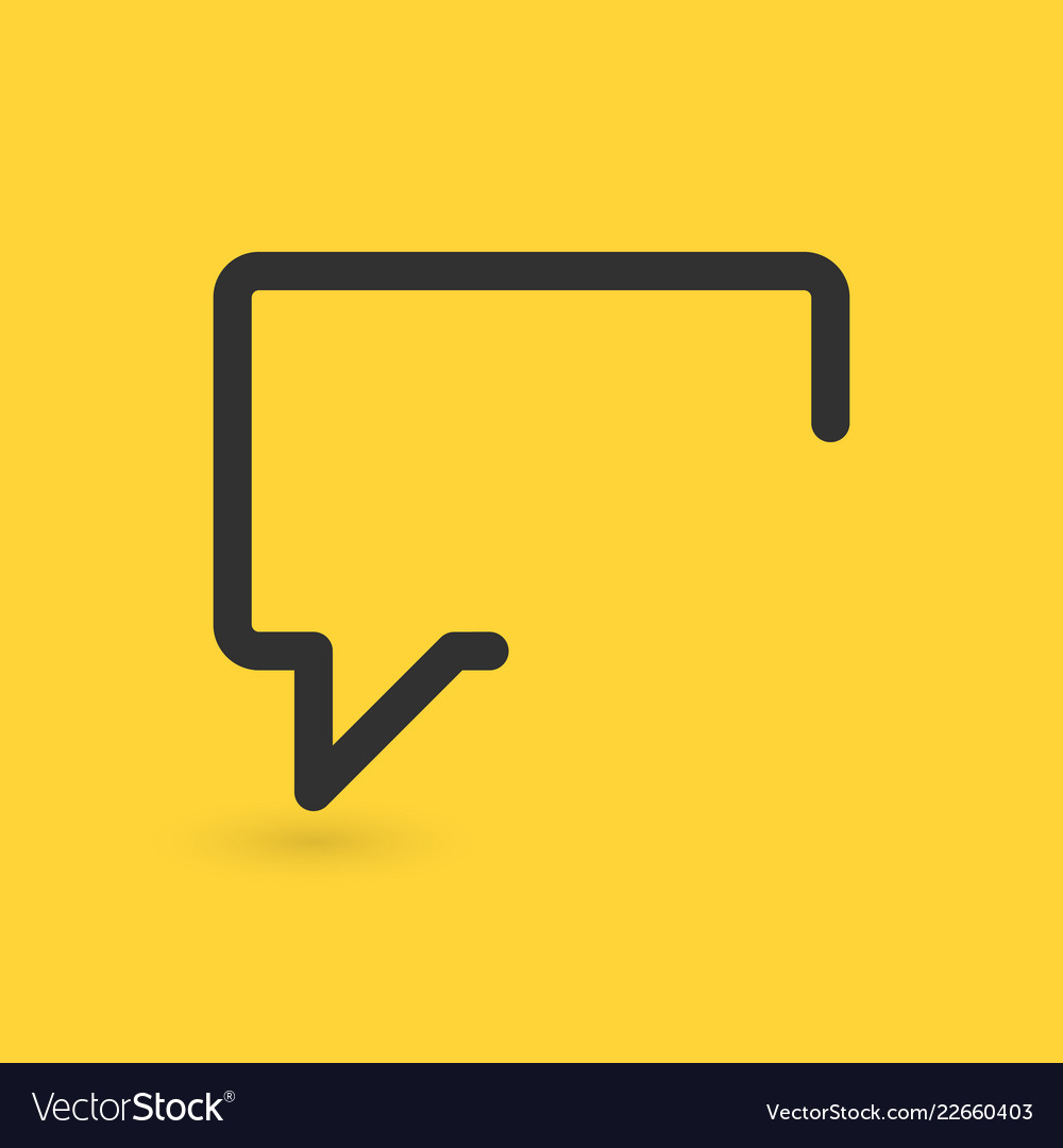 Message icon speech bubble concept modern signs
