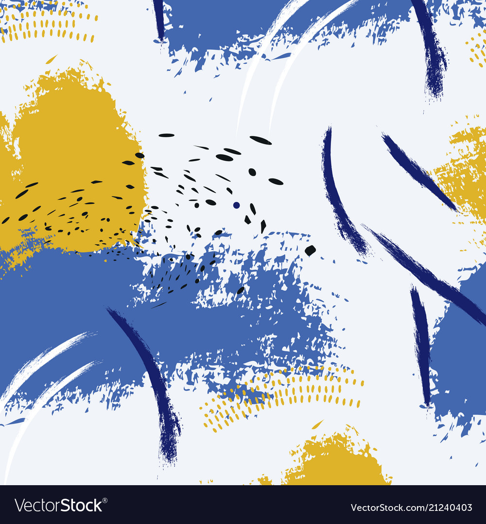 Paint blue yellow brush stroke fashion abstract