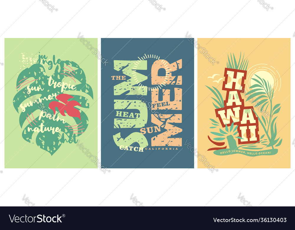 Summer tee shirts prints with hawaii motives