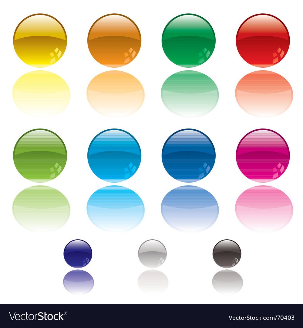 Web circle button vector image