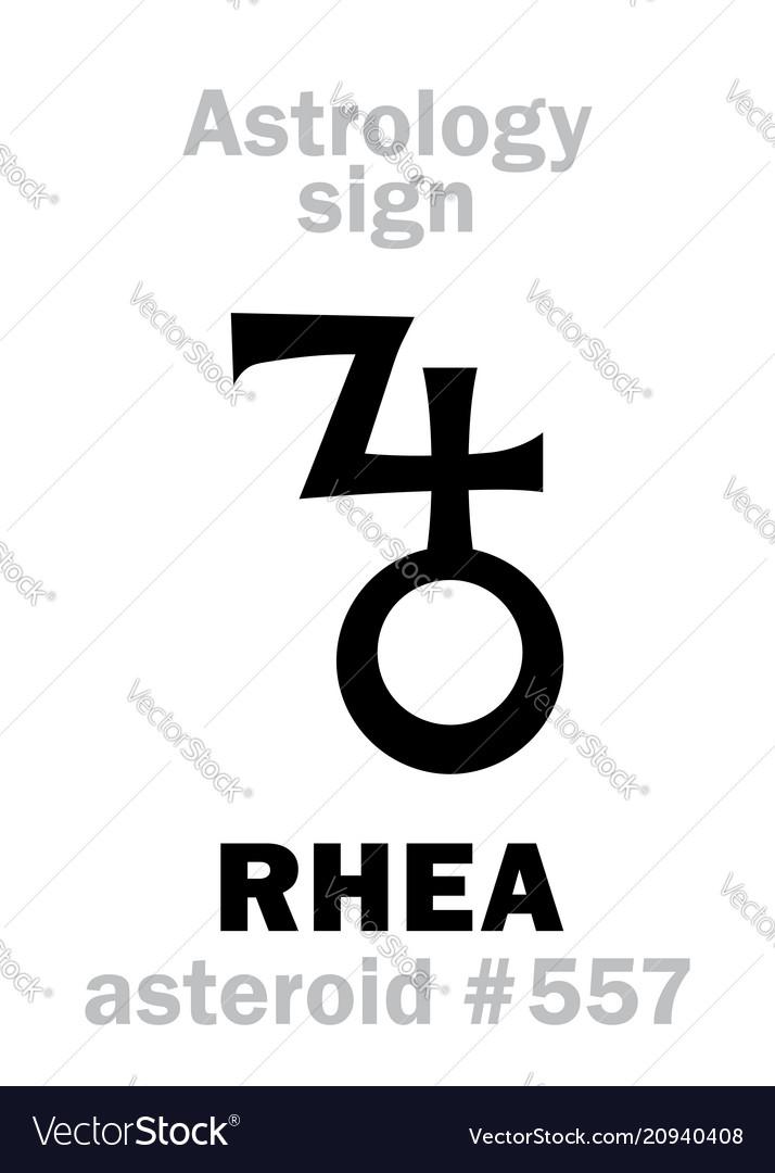 Astrology asteroid rhea