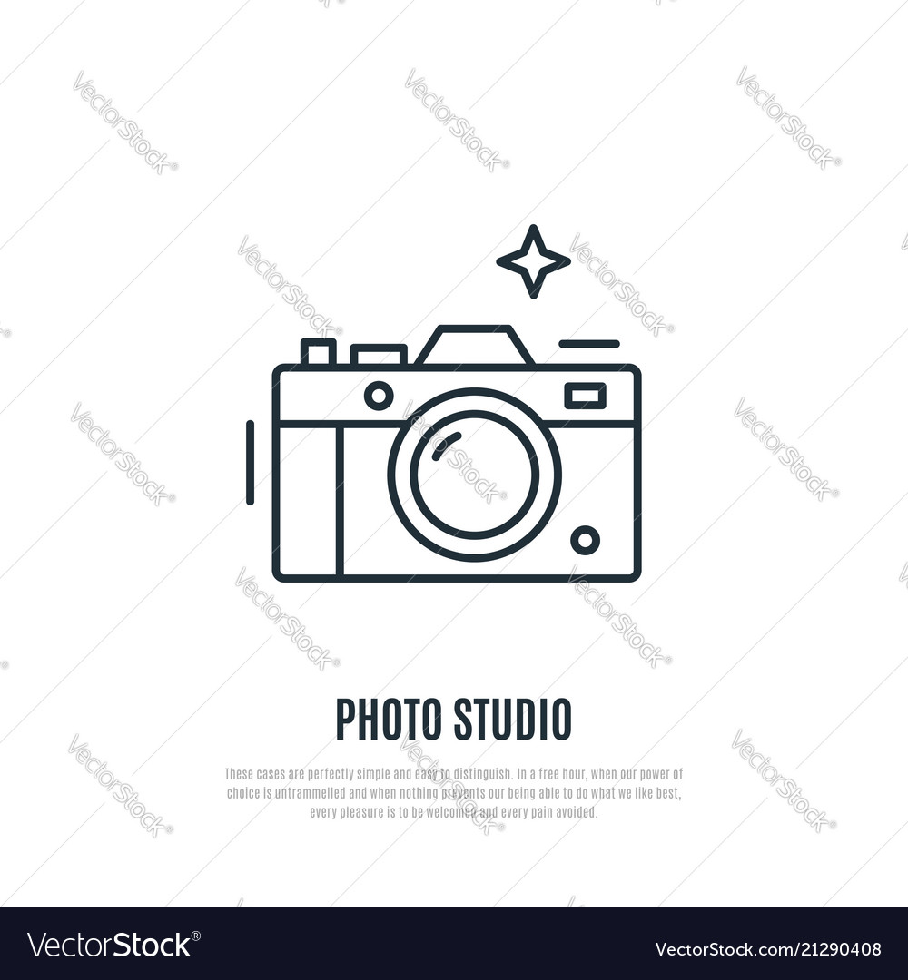 Camera line art style