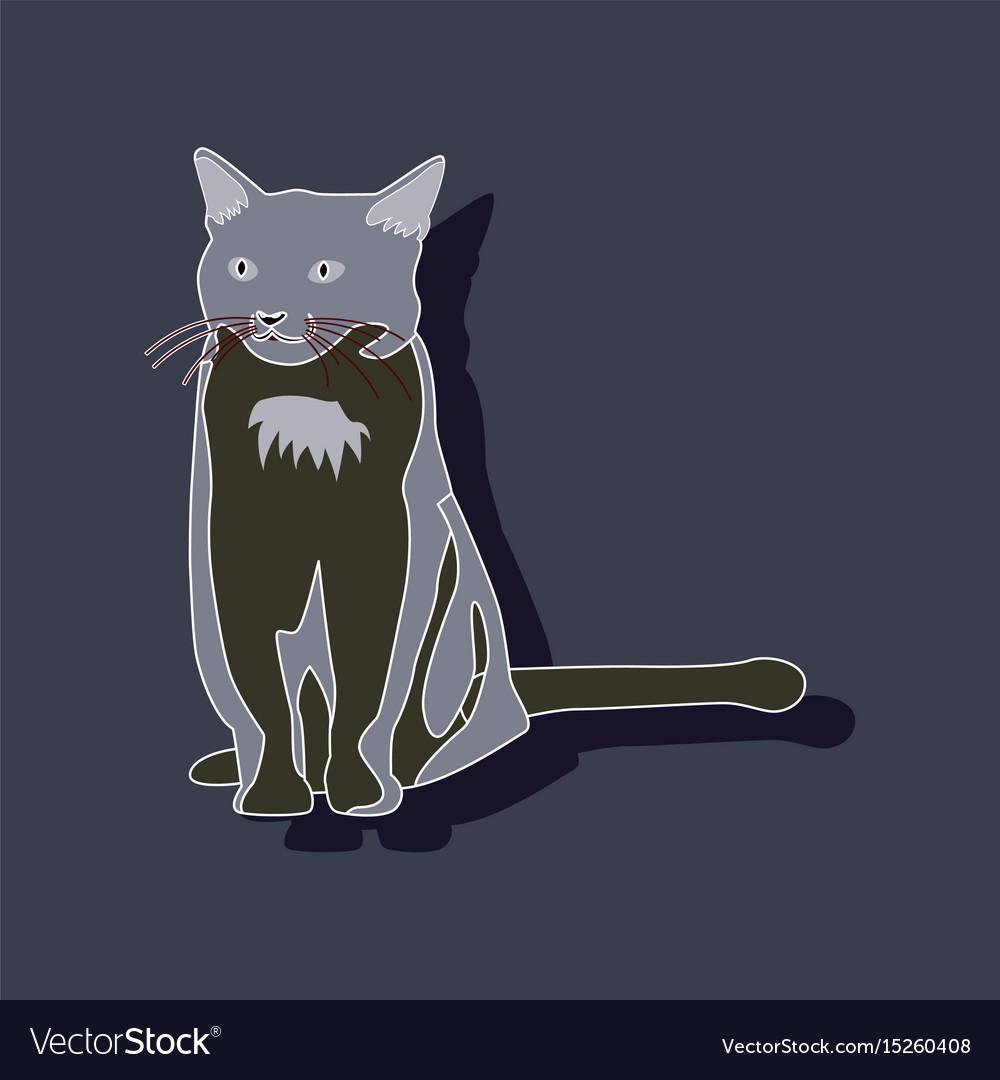 realistic design element cat