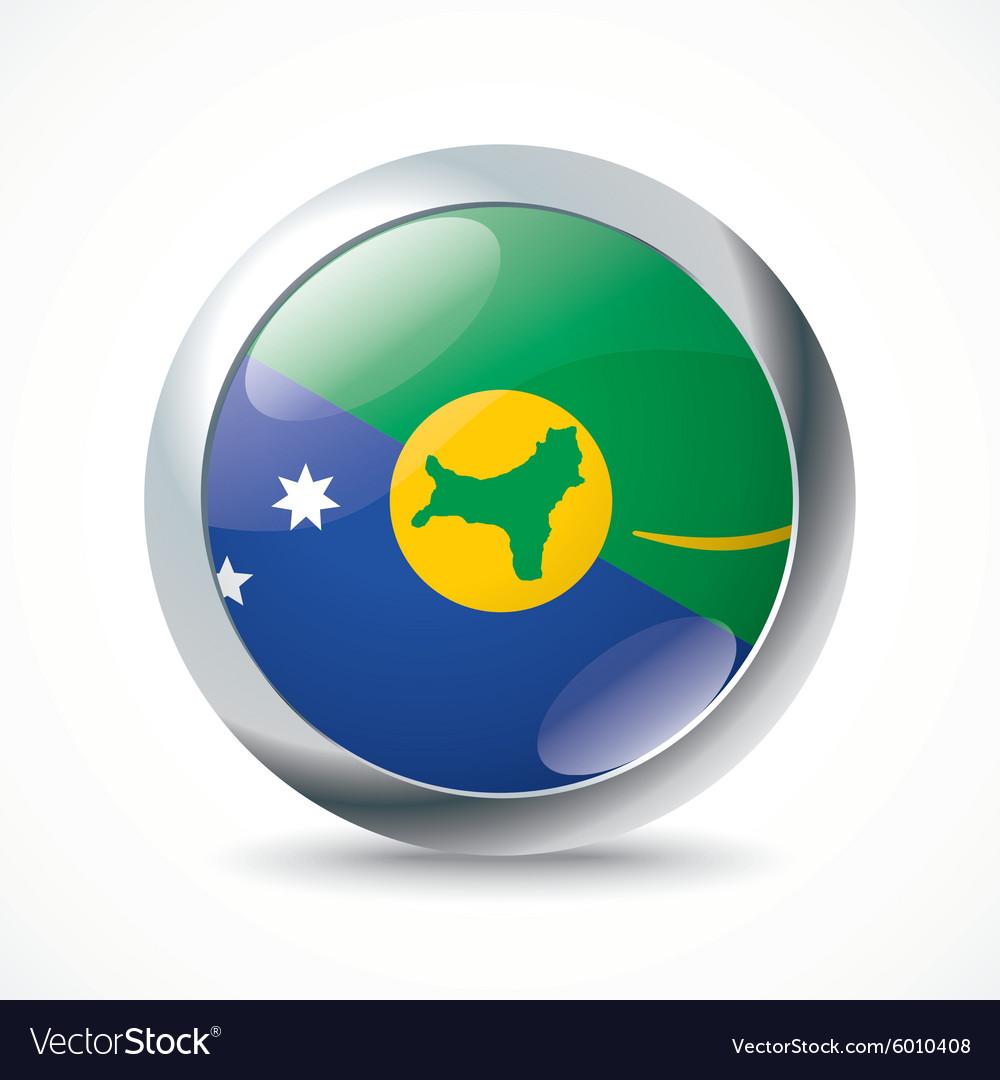 Christmas Island flag button