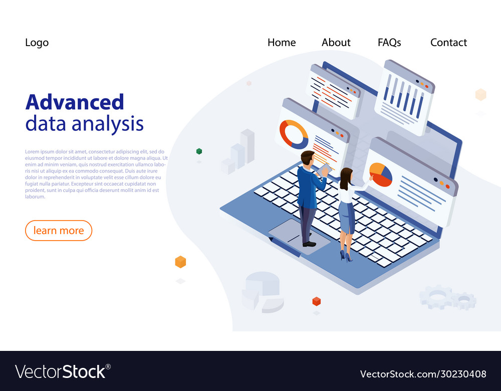 Data analysis design concept business data