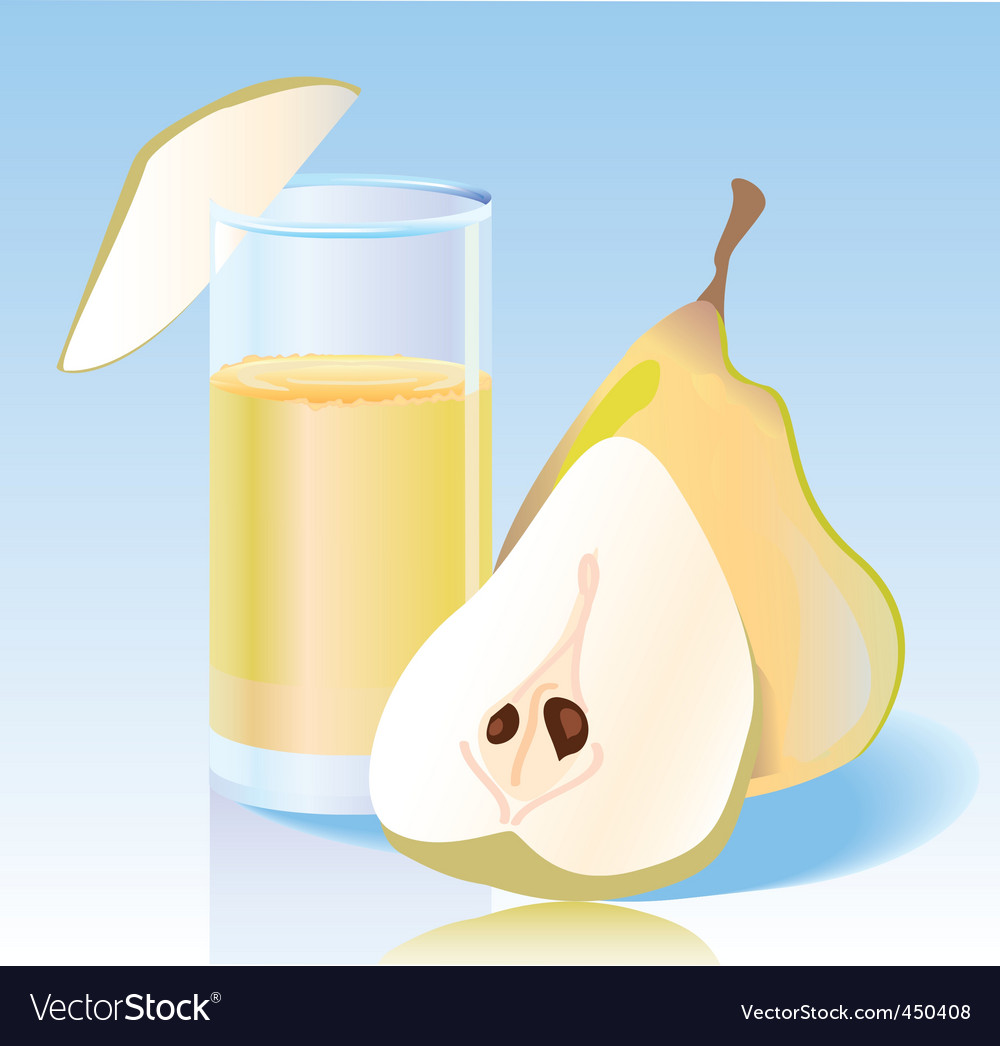 Fresh pear juice vector image