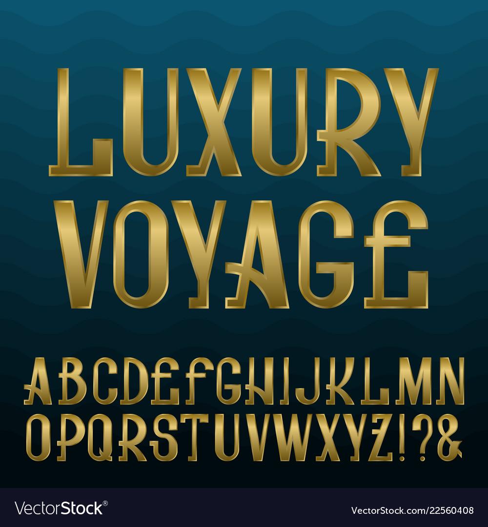 Luxury Gold Capital Letter A Alphabet Vector