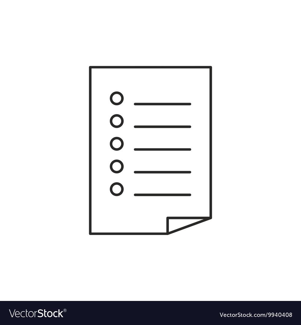 Outline document icon