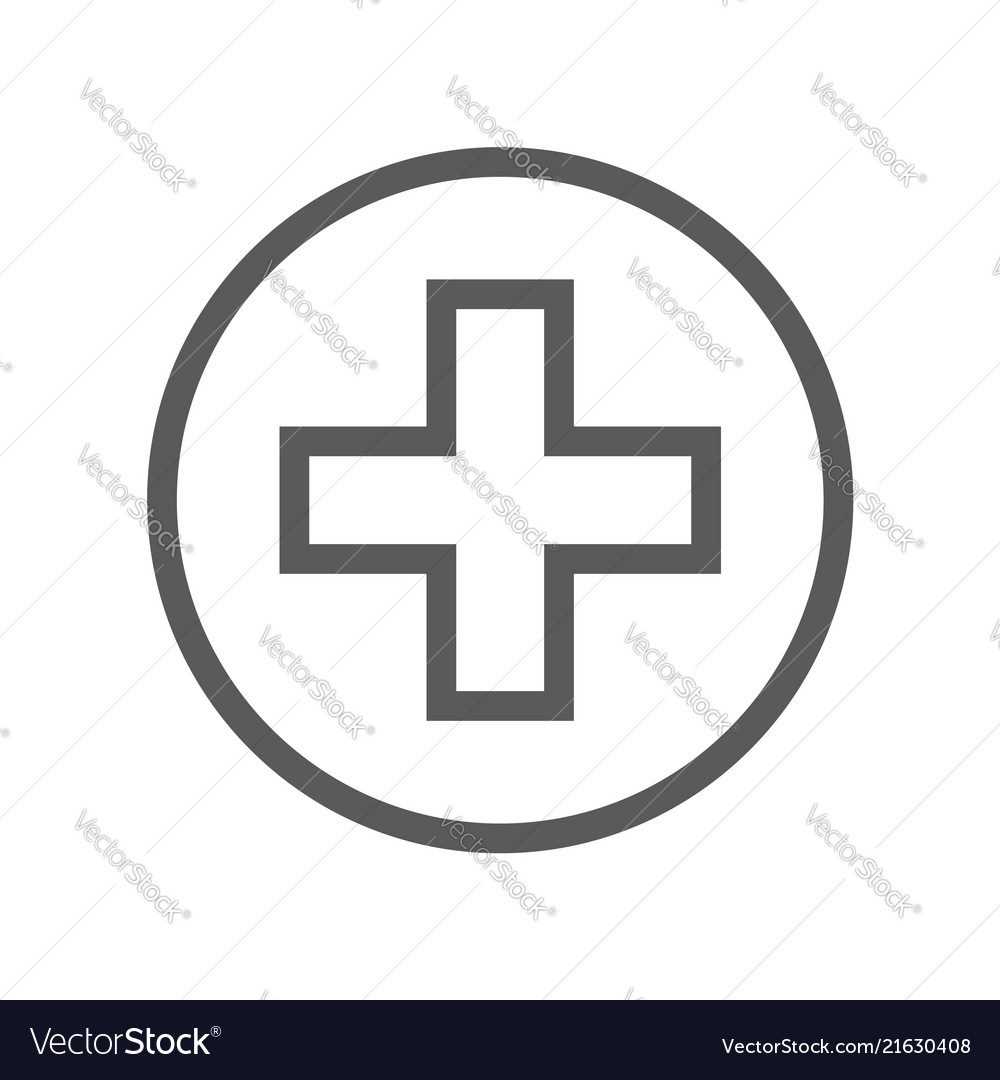 Public navigation line icon clinic medical post
