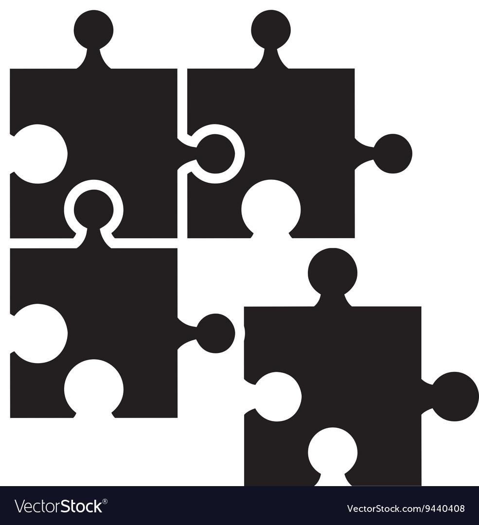 Puzzle pieces isolated icon design