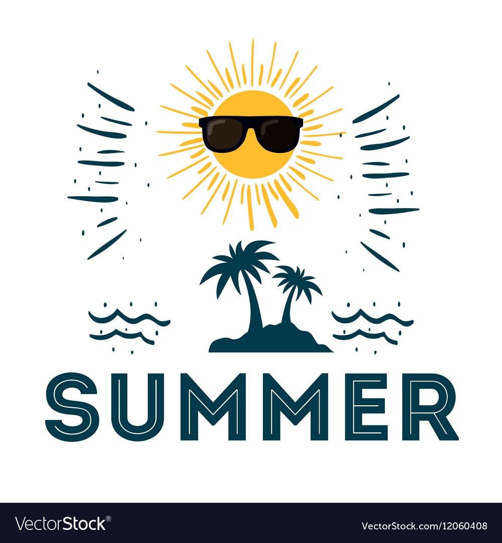 Summer poster sunny sunglasses funny