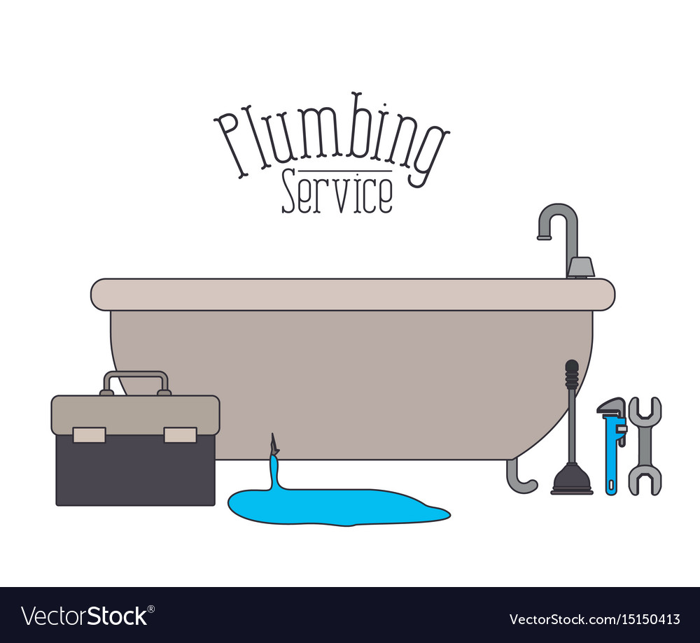 Color poster of bath dripping flooded plumbing