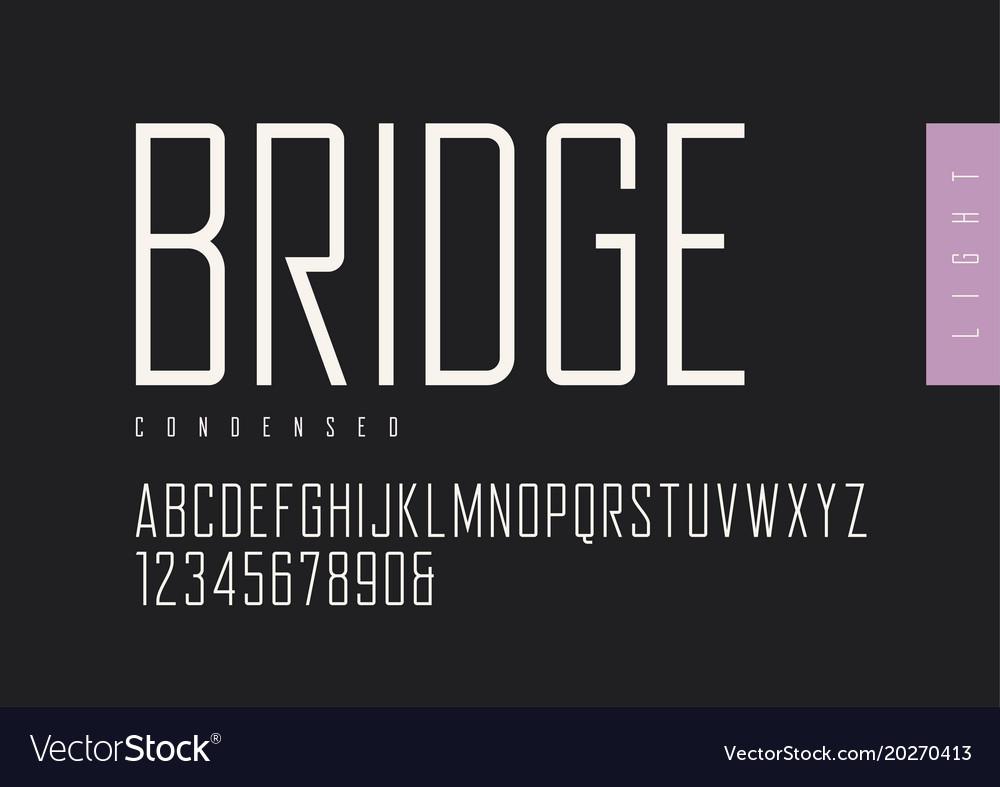 Condensed light retro sans serif typefaces