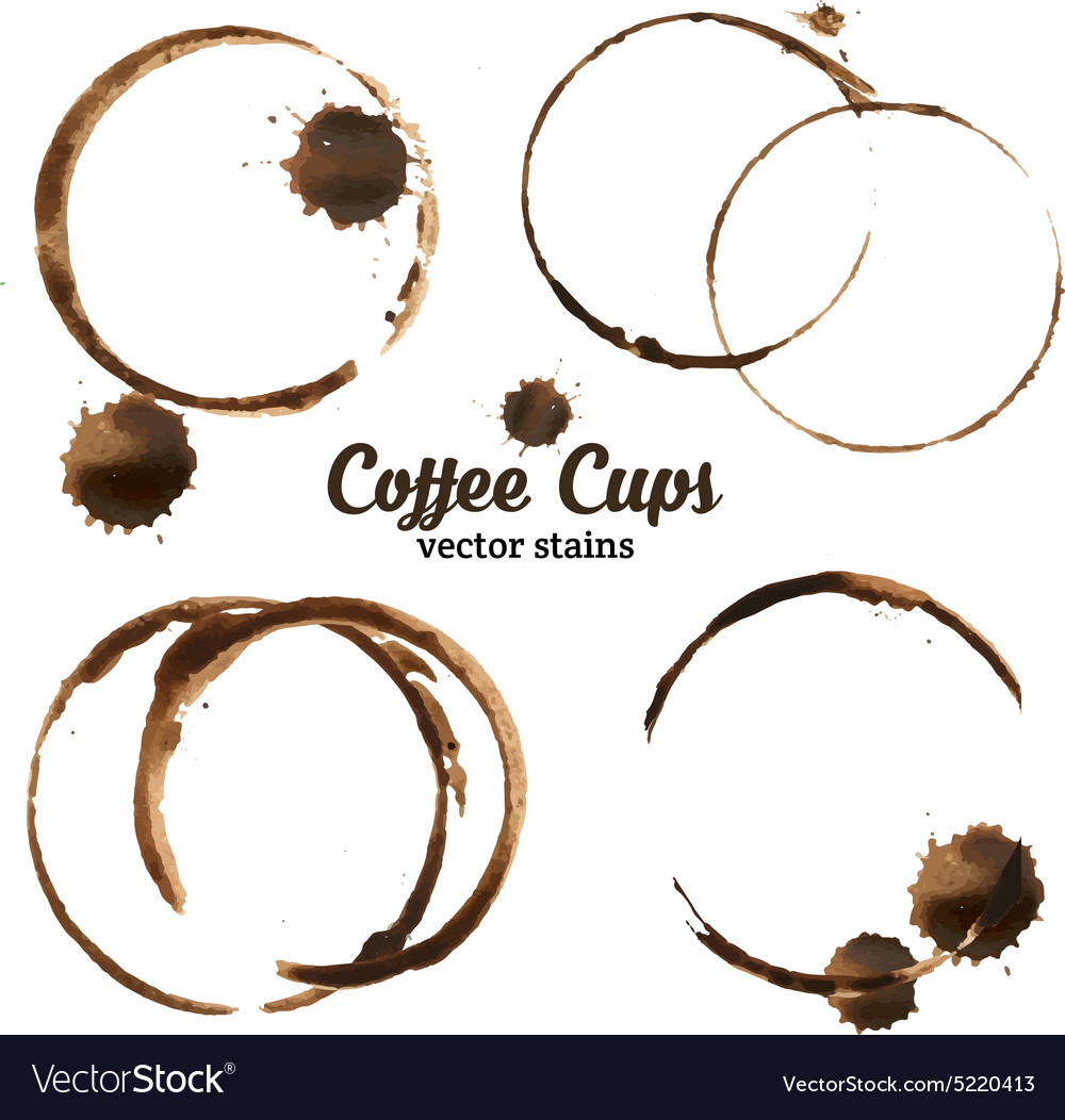 Isolated of coffee cup stains