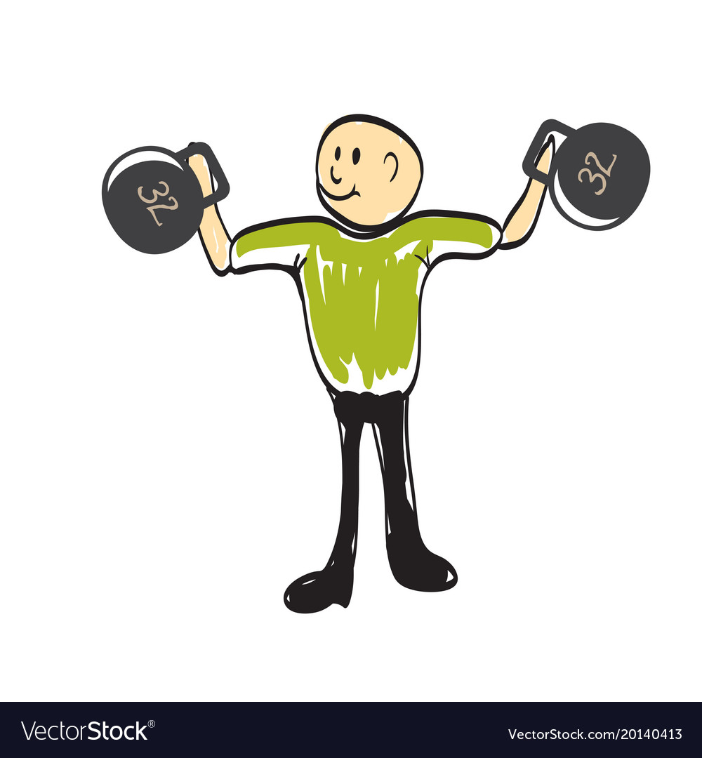 Man lifts a weight