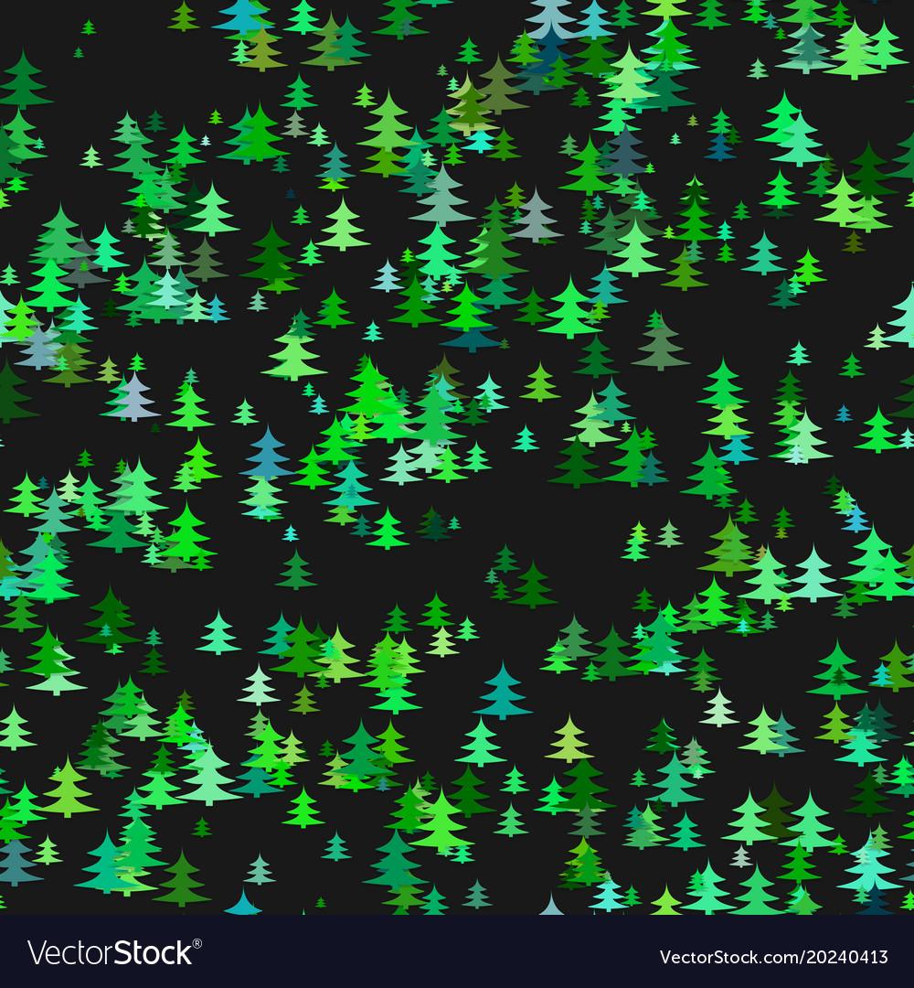 Seamless abstract random pine tree pattern