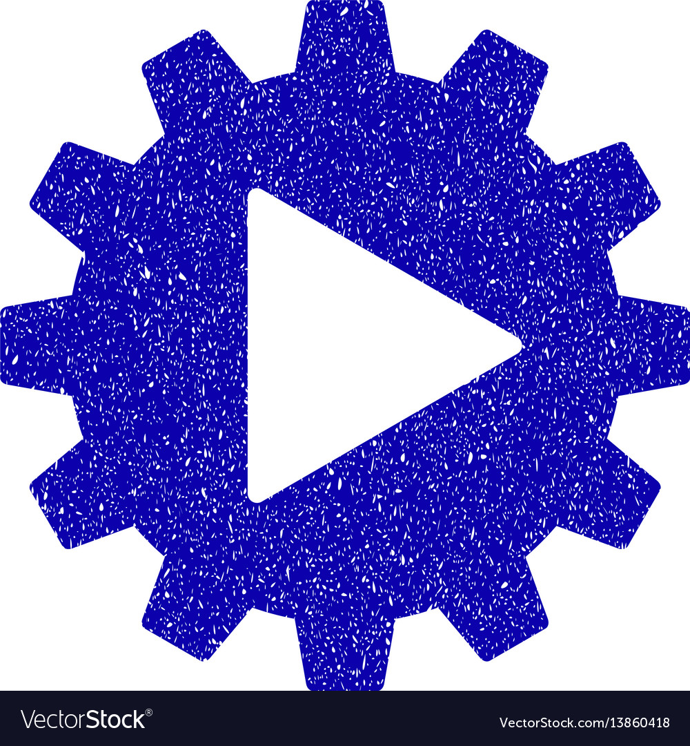 Automation gear icon grunge watermark vector image