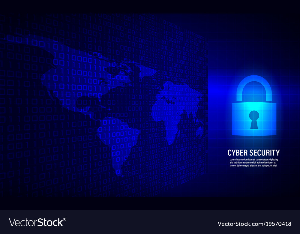 Closed padlock on binary code background