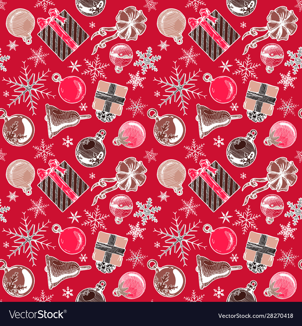 Color christmas background seamless tiling