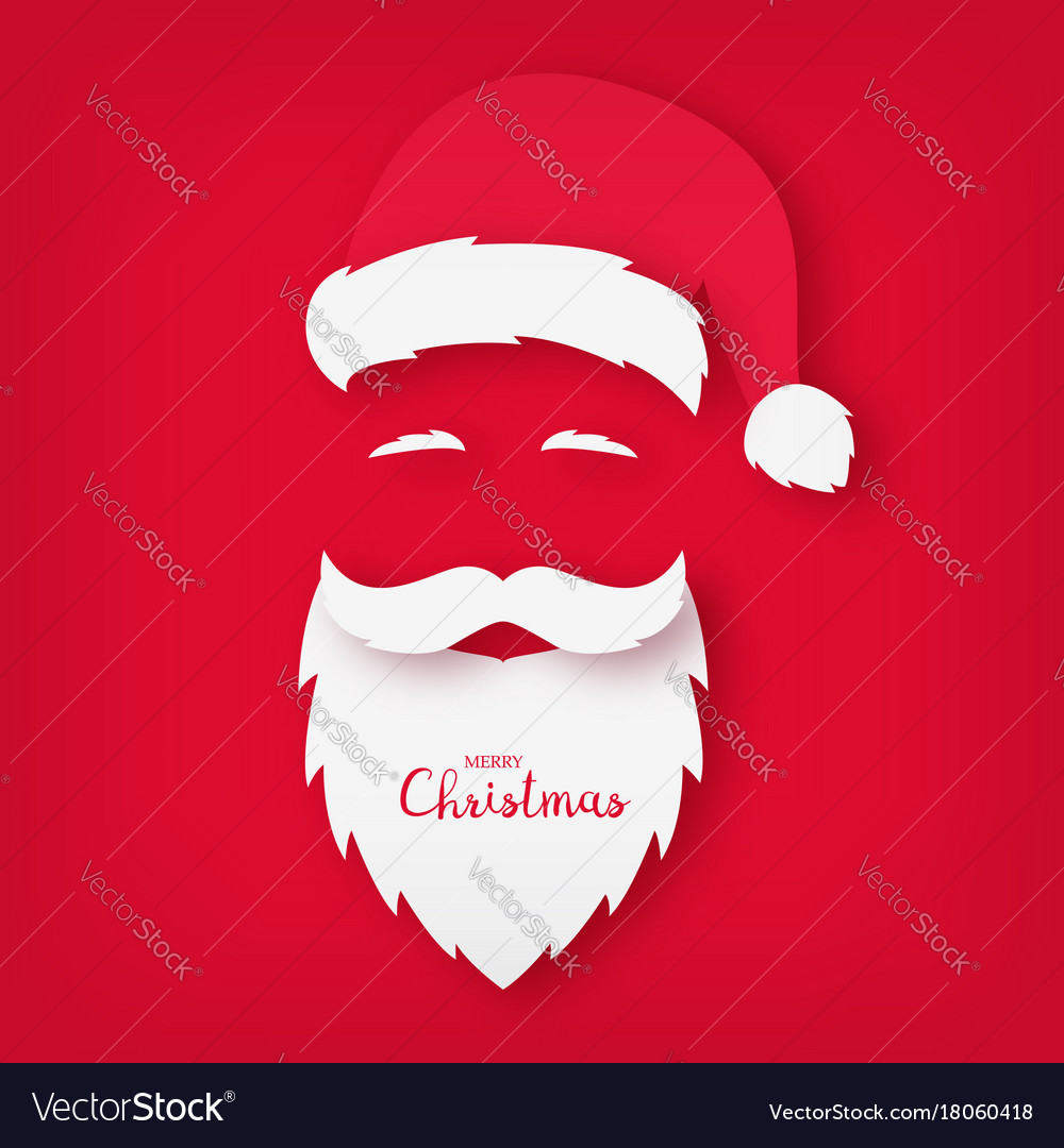 Origami Of Santa Claus Christmas Card Royalty Free Vector