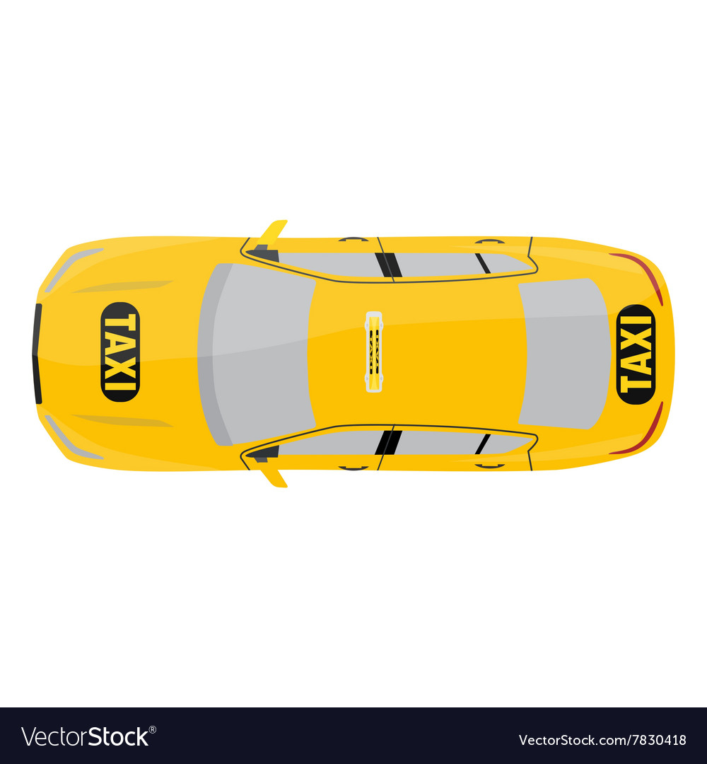 Taxi top view vector image