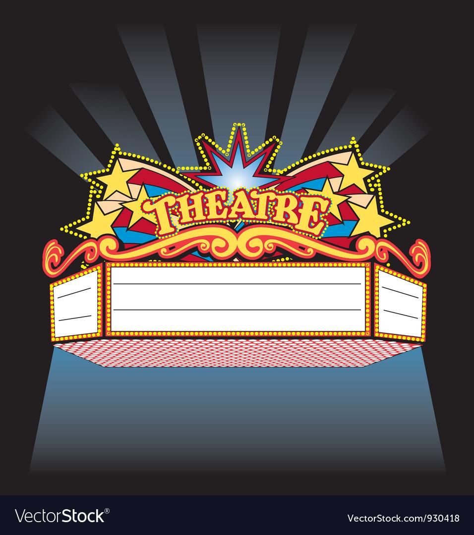 Theatre Marquee Royalty Free Vector Image - VectorStock