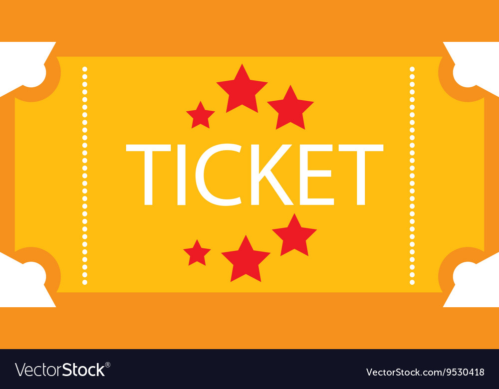 Ticket stub isolated icon design