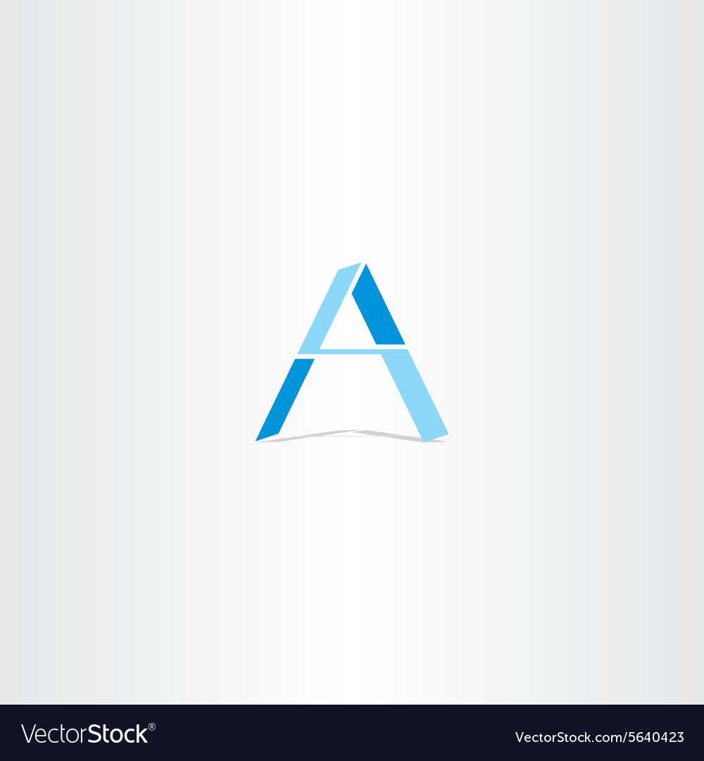 Blue letter a geometric logo design