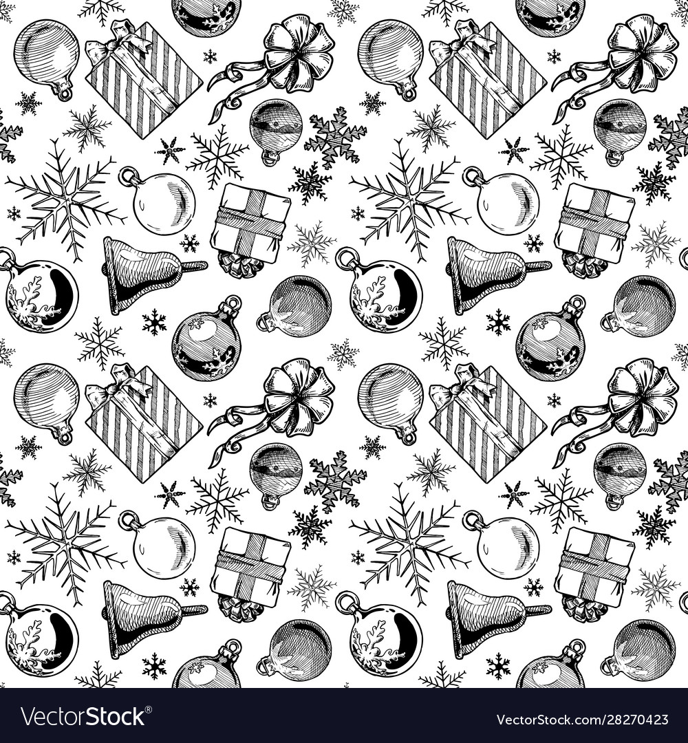 Christmas background seamless tiling