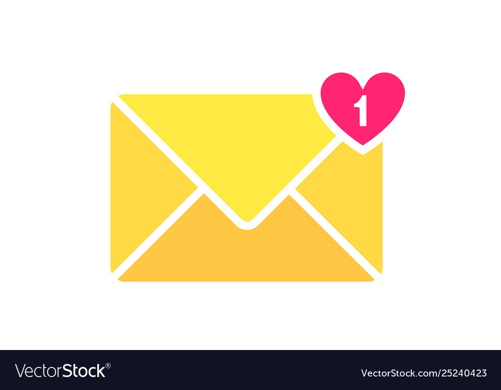 Envelope letter icon mail envelope with a heart