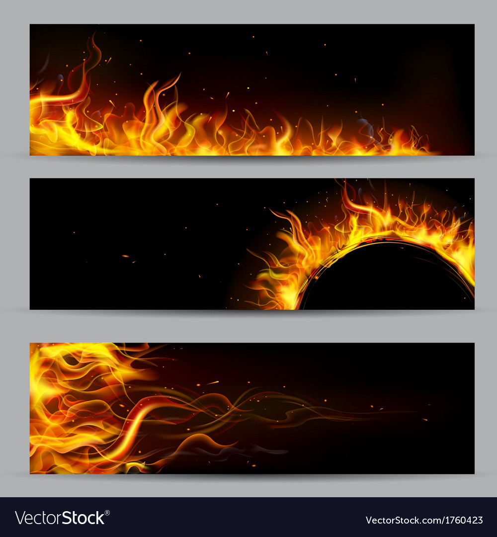 Fire Flame Template vector image