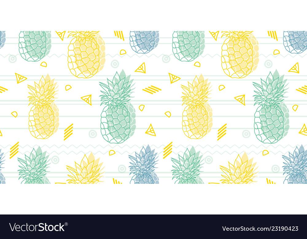 Geometric fun pineapples pattern